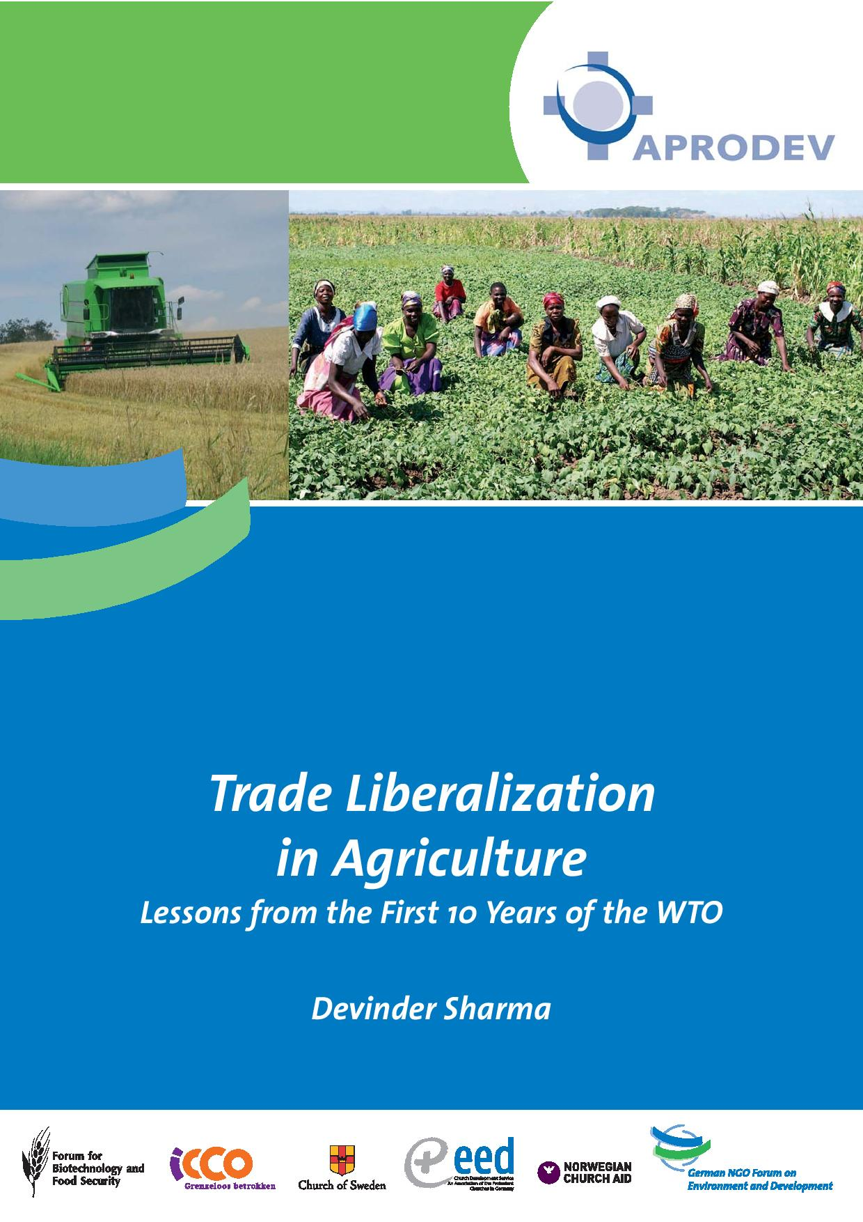 the effects of trade and agriculture An examination of impact and policy strategies with special reference to india   country with respect to trade liberalization and agriculture, as well as specific.