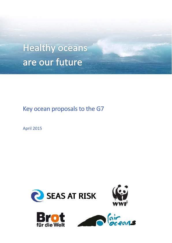G7 oceans input SAR WWF Cover