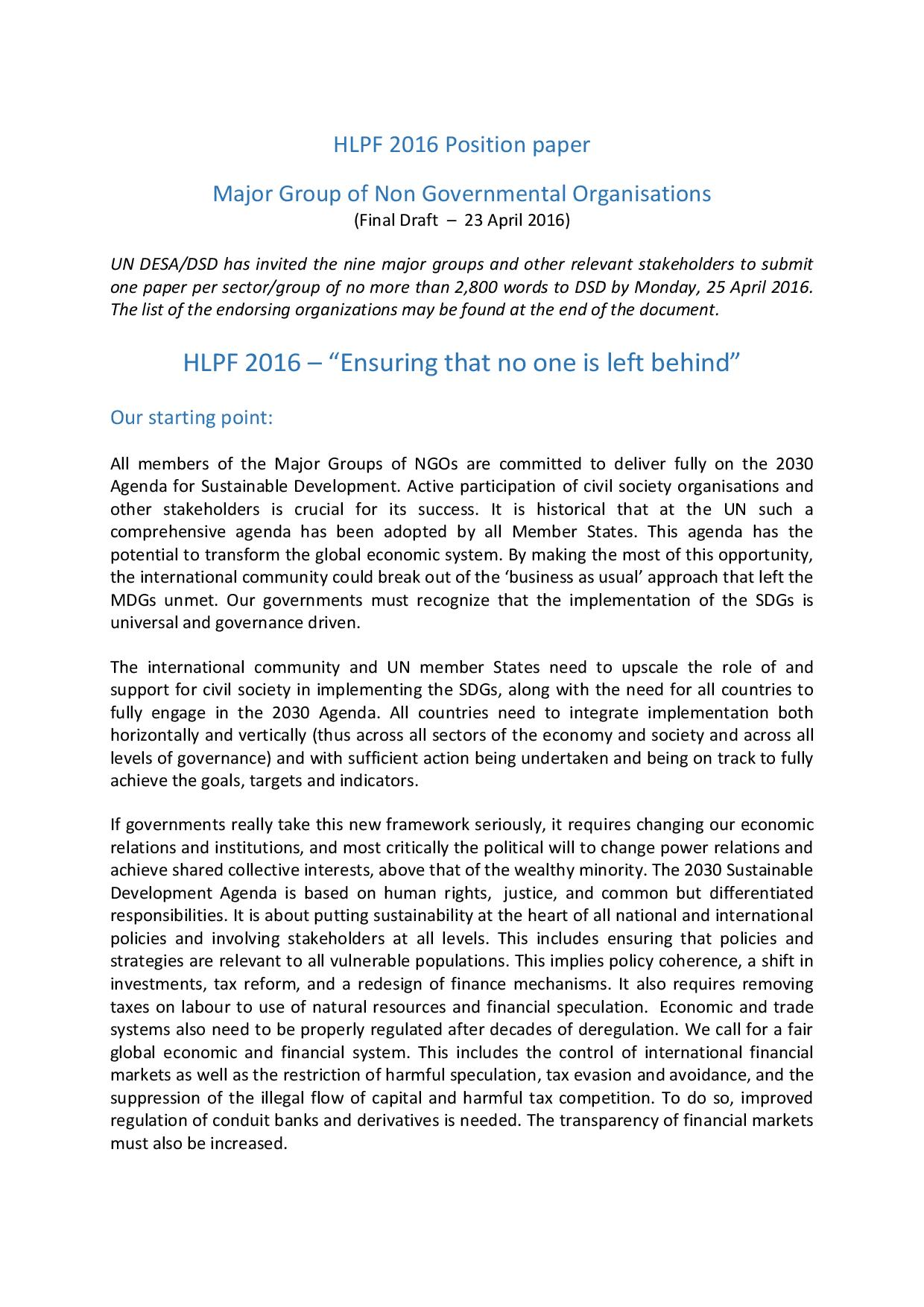 ngo paper 1 civil society paper on budgetary control of funding ngo from the eu budget 1 introduction civil society europe (cse) brings together 28 european networks of civil society organisations.